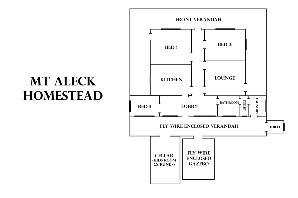 Mt Aleck Homestead Floorplan